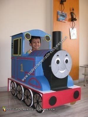 Homemade Thomas The Engine Costume