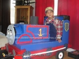 Homemade Thomas The Tank and Conductor Costume