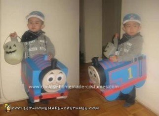 Homemade Thomas The Tank Engine Costume