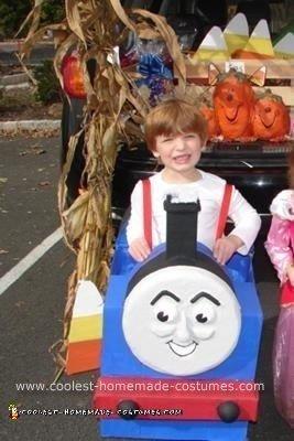 Homemade Thomas the Tank Engine Halloween Costume