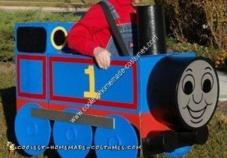 Homemade Thomas the Tank Engine Unique Halloween Costume Idea