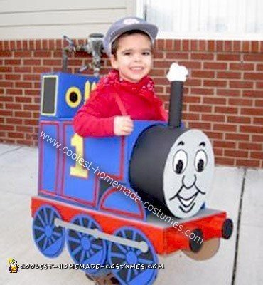 Homemade Thomas the Train Boy Costume