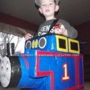 Homemade Thomas the Train Halloween Costume