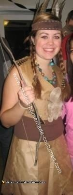 Homemade Tiger Lily Indian Princess Costume