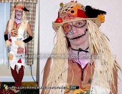 Homemade Tim Burton Inspired Scarecrow Costume