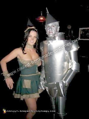 Homemade Tin Man and Scarecrow Couple Costume
