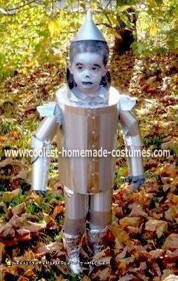 Homemade Tin Man Halloween Costume