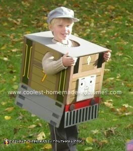 Homemade Toby  the Tram Engine Costume