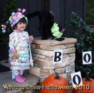 Homemade Toddler Dippin' Dots Ice Cream Halloween Costume