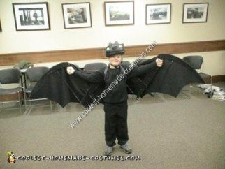 Homemade Toothless The Dragon Halloween Costume Idea