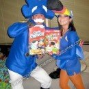 Homemade Toucan Sam and Cap'n Crunch Costumes