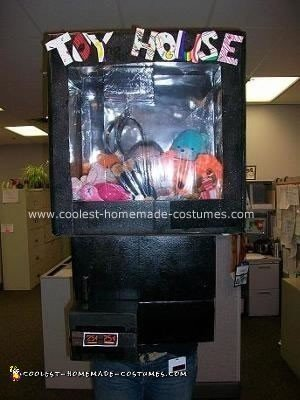 Homemade Toy House Claw Machine Costume