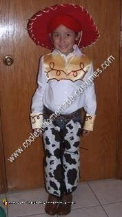 Homemade Toy Story Jessie Child Halloween Costume Idea