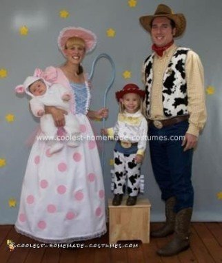 Homemade Toy Story Family Costume