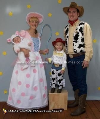 my daughter kylinn loves toy story and wanted to be jessie for halloween she wanted my husband to be woody so i decided to be his girlfriend bopeep