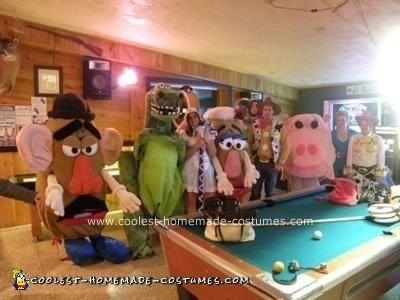 Homemade Toy Story Group Costume Idea