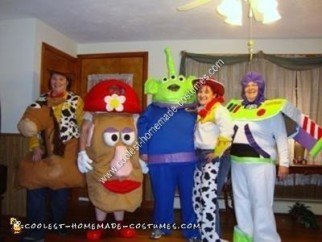 Homemade Toy Story Group Halloween Costumes