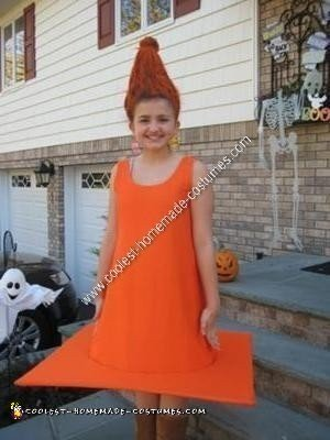 Homemade Traffic Cone Child Halloween Costume