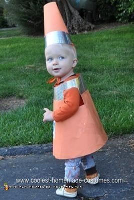 Homemade Traffic Cone Toddler Halloween Costume