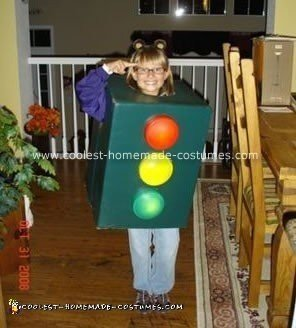 Homemade Traffic Light Halloween Costume