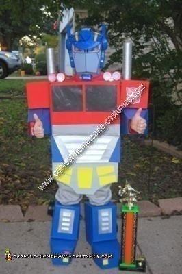 Homemade Transformer Kids Costume Idea