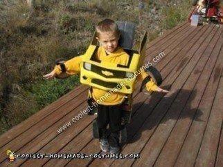 Homemade Transforming Bumblebee Kids Costume