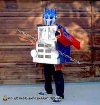 Homemade Transforming Optimus Prime Costume