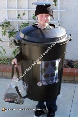 Homemade Trash Can Halloween Costume Idea
