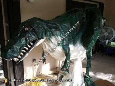 Homemade T-Rex Halloween Costume Idea