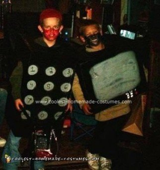 Homemade TV and Remote Halloween Costumes