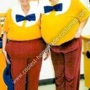 Homemade Tweedle Dee and Tweedle Dum Costumes