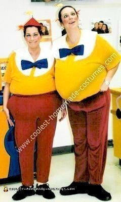 Homemade Tweedle Dee and Tweedle Dum Costumes