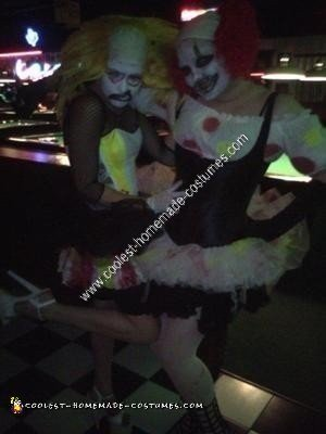 Homemade Twin Clown Halloween Costumes