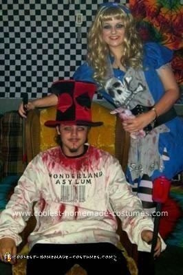 Homemade Twisted Alice and Mad Hatter Costume 3
