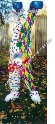 Homemade Upside Down Clown Halloween Costume