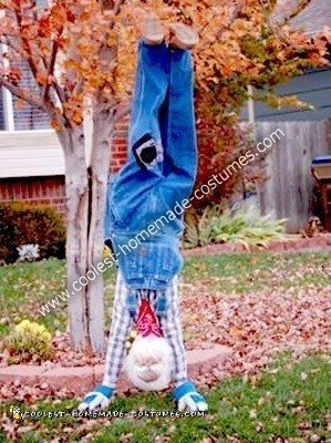 Homemade Upside Down Man Optical Illusion Costume