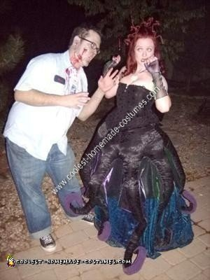 Homemade Ursula the Sea Witch Halloween Costume Idea