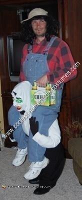 Homemade Vampire Carrying Hillbilly Illusion Costume Idea