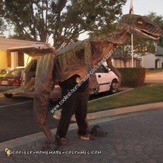 Homemade Velociraptor Halloween Costume Idea