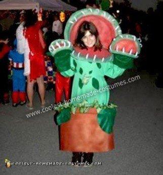 Homemade Venus Flytrap Halloween Costume