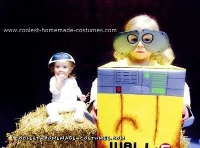 Homemade Wall E and EVE Costumes
