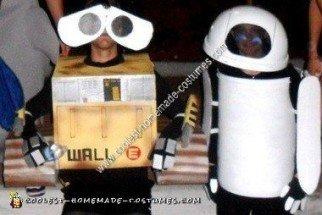 Homemade Wall E and Eve Halloween Costumes