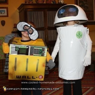 Homemade WALL-e and EVE Costumes