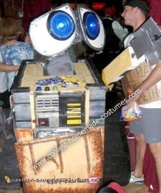 Homemade Wall-E Halloween Costume