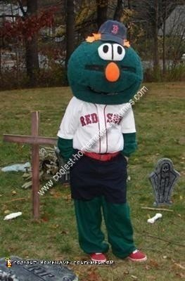 Homemade Wally the Green Monster Red Sox Mascot Costume
