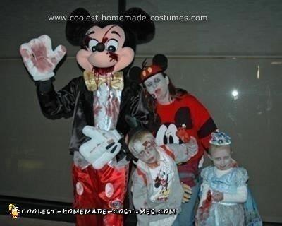 Homemade Walt Disney World Zombie Family Costume