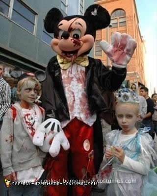 coolest homemade walt disney world zombie family costume