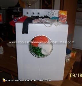 Homemade Washing Machine Costume