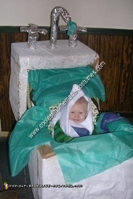 Homemade Water Droplet in a Sink Stroller Costume