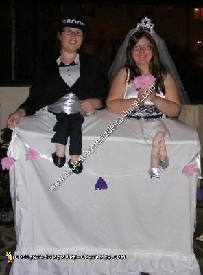 Homemade Wedding Cake Couple Costume